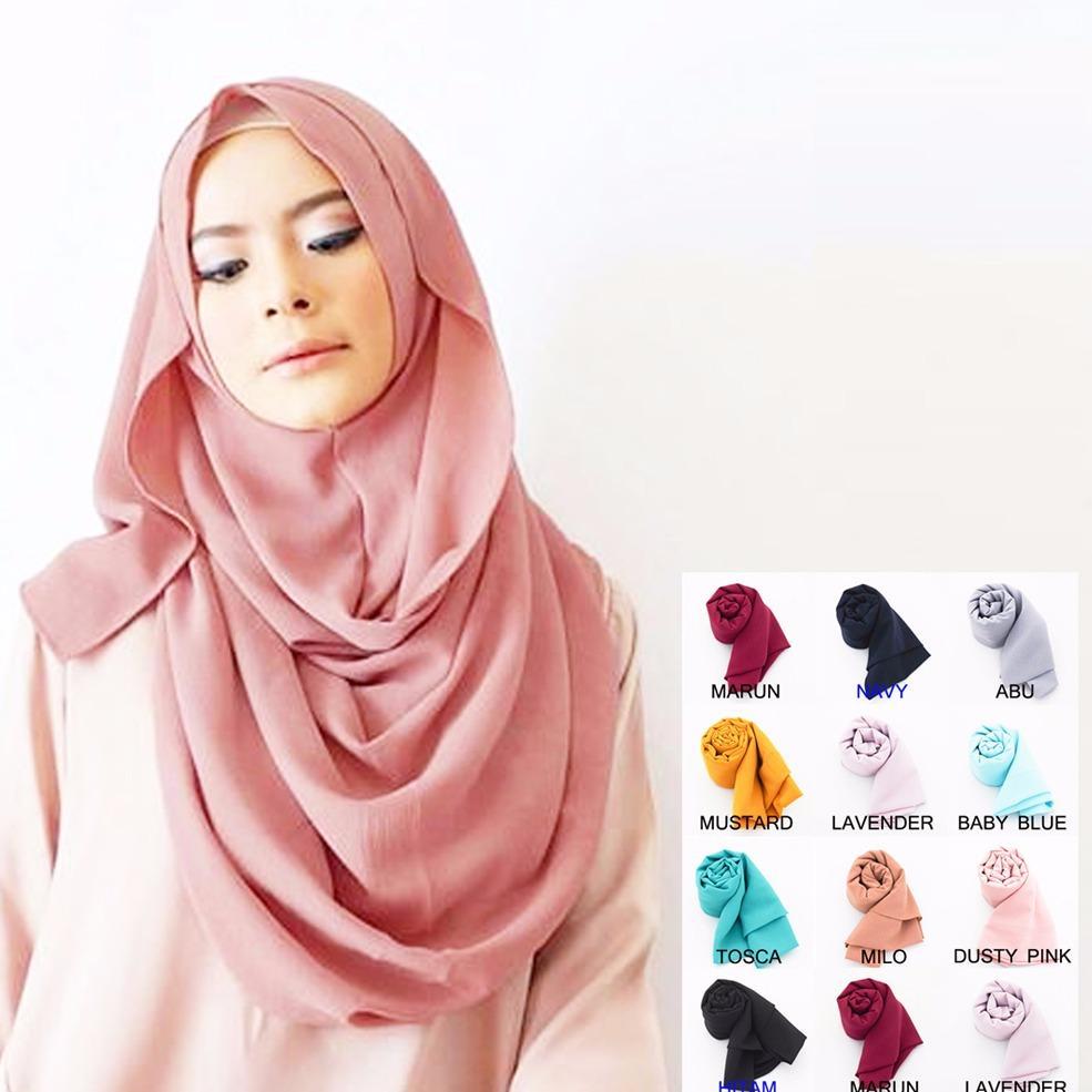 Pashmina Instan - Jilbab Instan Kerudung Berkualitas - Hijab Khimar Pastan Azkia