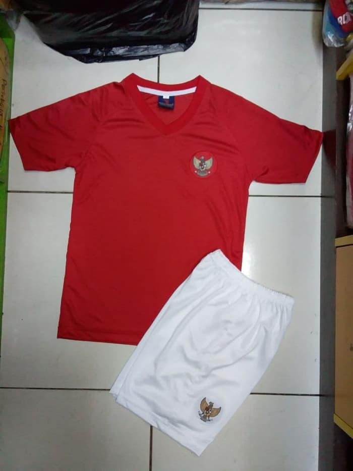 Baju Bola Anak timnas Setelan Kaos jersey indonesia away merah