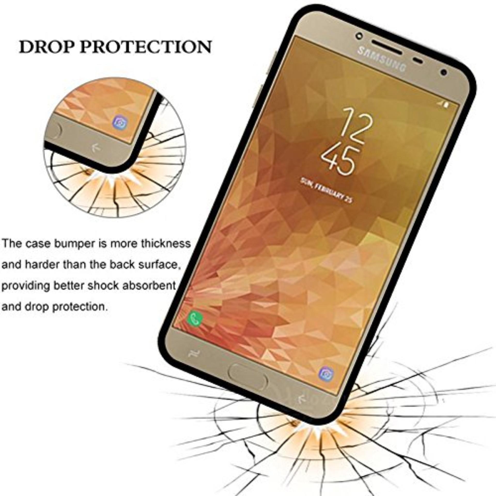 Case Slim Black Matte Samsung Galaxy J4 Baby Skin Softcase Ultra Thin Jelly Silikon Babyskin -
