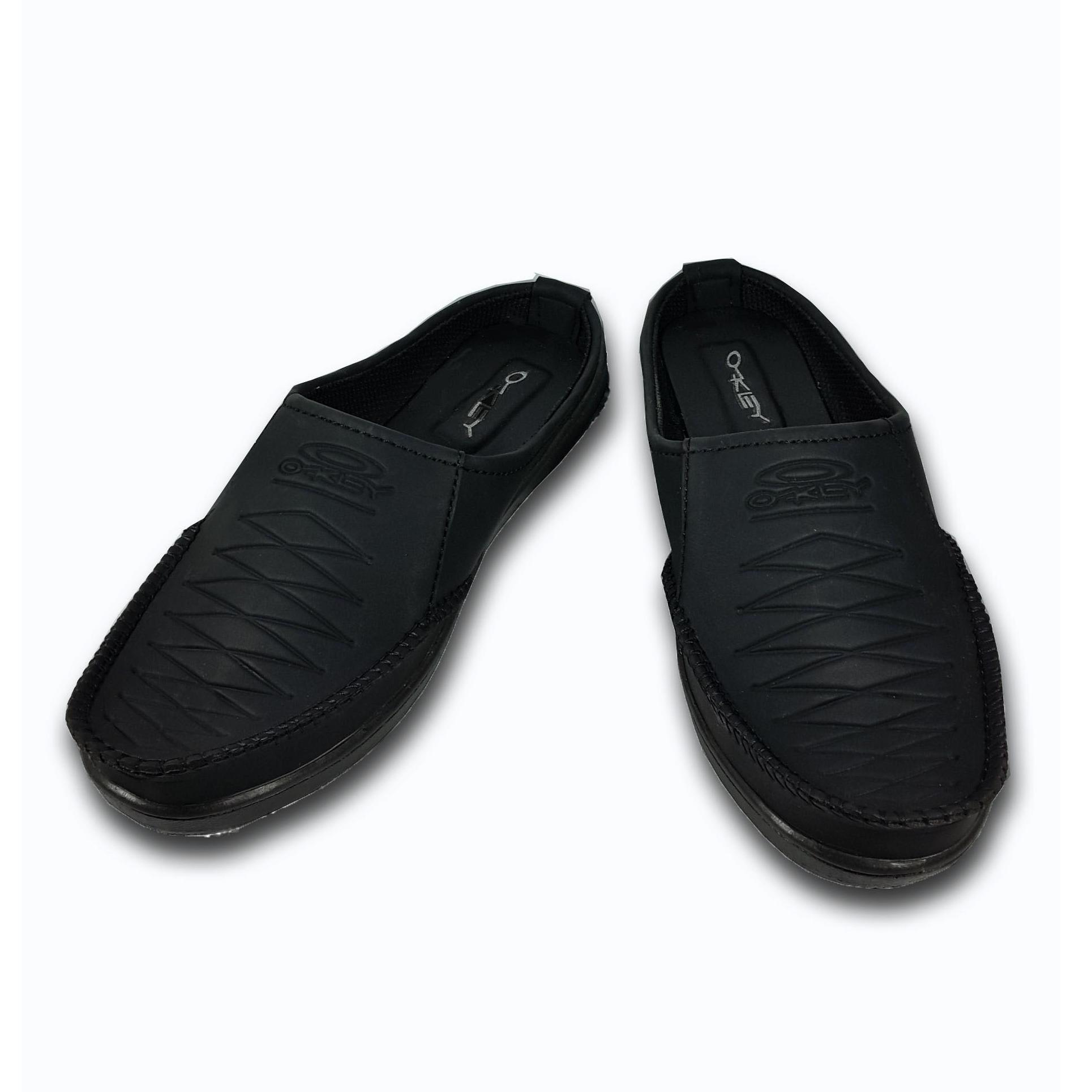 Beli Sepatu Selop Pria Casual Black Nyicil