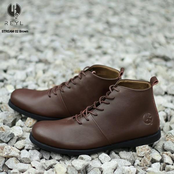 Sepatu boots pria kulit original wolf footwear brodo bradleys murah
