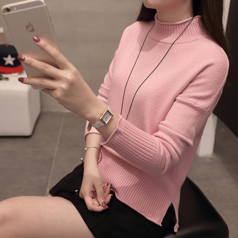Kemeja Rajut Korea Modis Gaya Musim Gugur atau Musim Dingin Baju Dalaman Lengan Panjang Wanita (