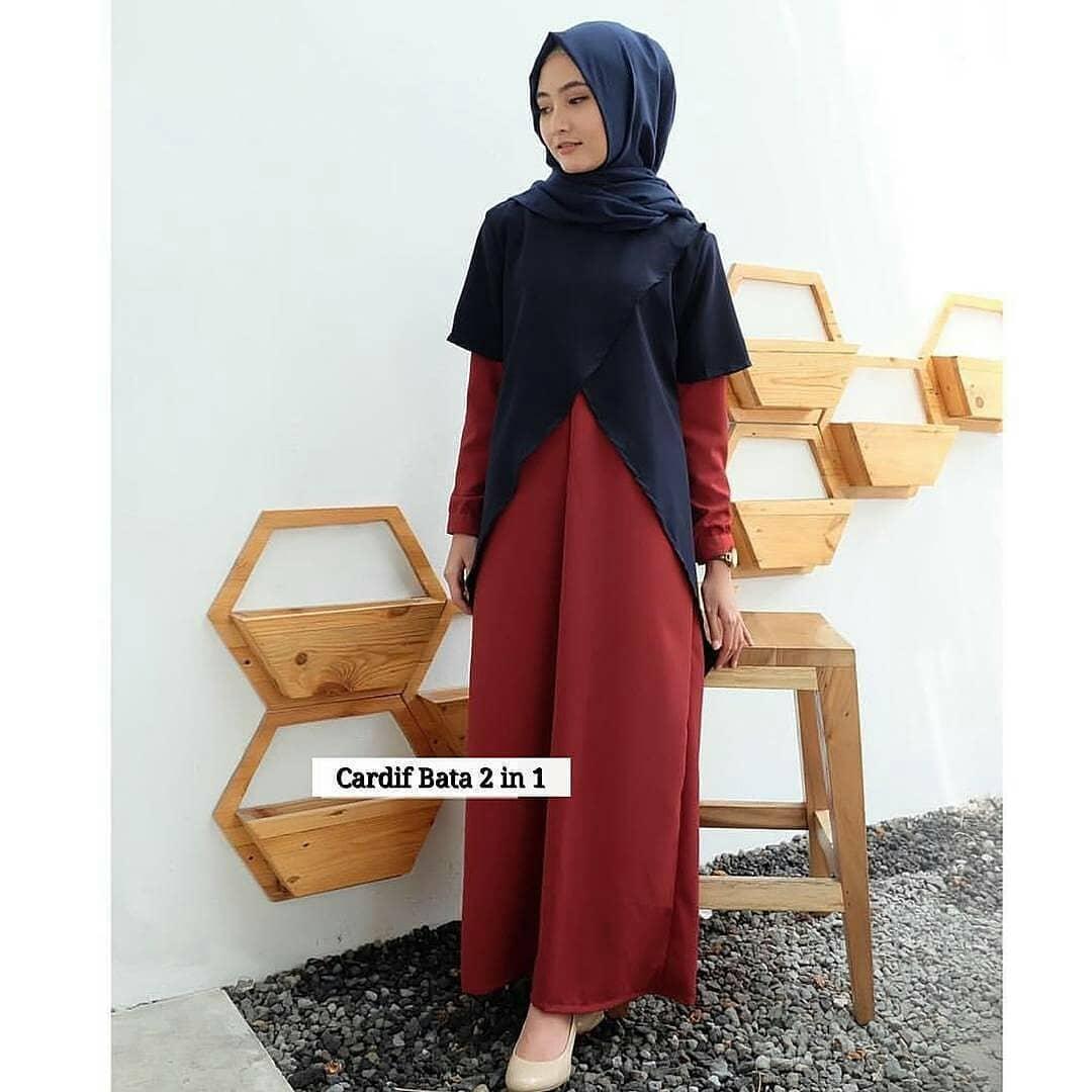 Setelan Gamis Muslimah Wanita Gratis Bergo Baju Gamis Modern Gamis ... 051392a7e9