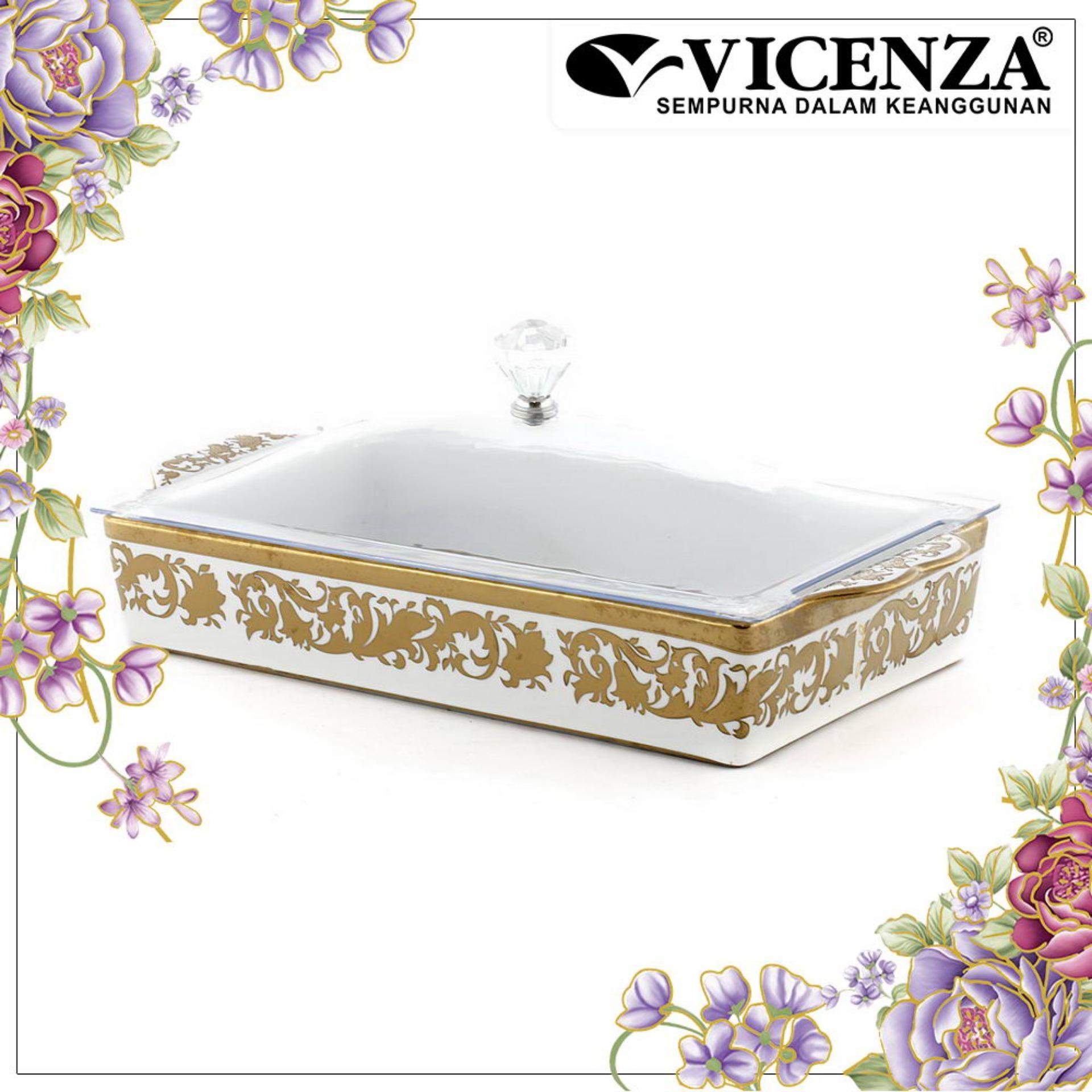 Jual Vicenza Tableware Crp138 Tempat Kue Persegi Square Cake Plate Lengkap