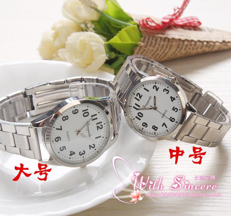 Besar angka meja tua Jam tangan Pasangan Pria Jam tangan pria orang usia stengah Baya dan usia tua Jam Tangan jam tangan wanita Jam tangan siswa Tali Baja jam tangan QUARTZ orang tua - 3
