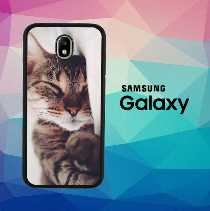 Cat Sleeping Beauty Q0023 Casing Custom Hardcase Samsung Galaxy J3 Pro 2017 Case Cover