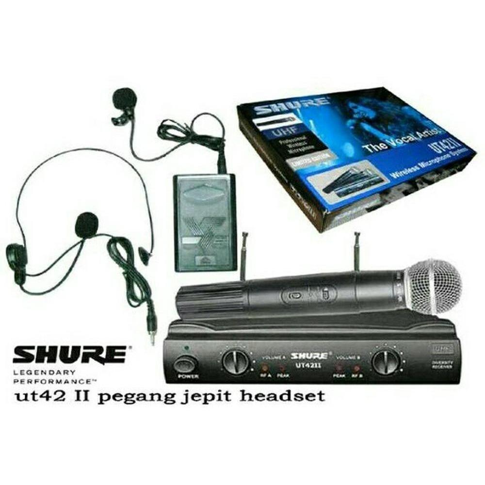 Kelebihan Microphone Mic Wireless Shure Ut 42 Ii Uhf Professional Clip On Mini Jepit Pegang Headset