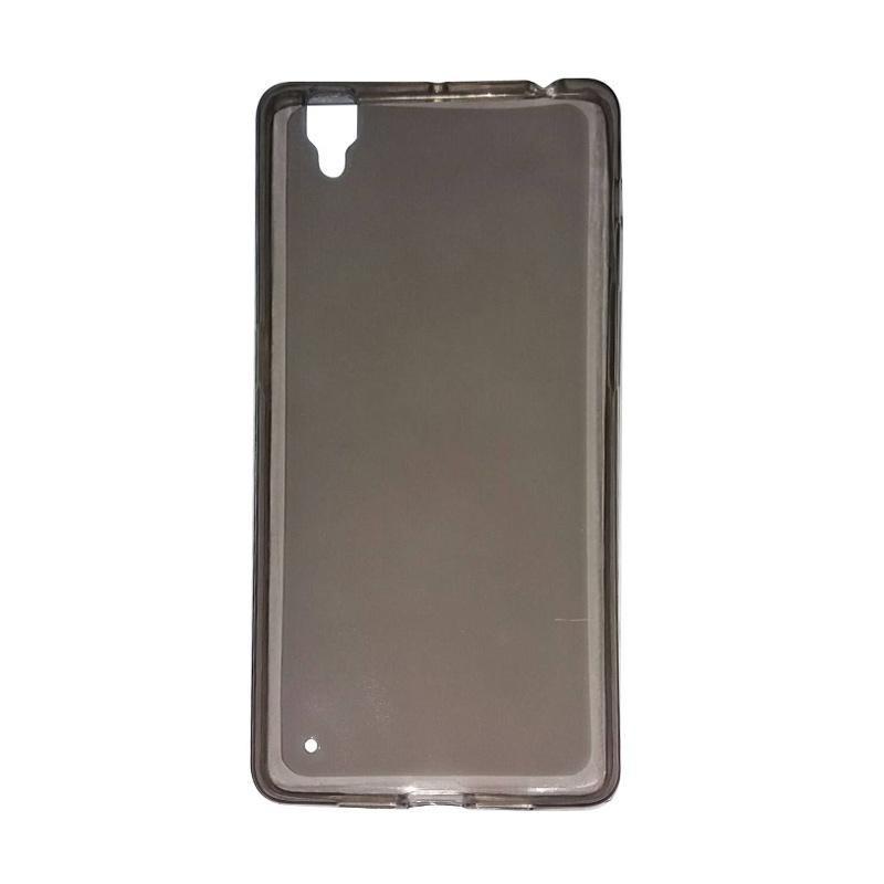 MR Oppo R7 Jelly Case / Softcase Oppo R7 / Softshell Oppo R7 / Casing Oppo R7 / Jelly Case Oppo R7 - Hitam Transparan