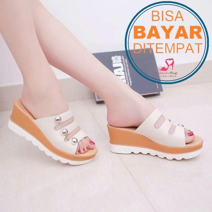 WEDGES KARISSA TERLARIS GWS-1177 CREAM