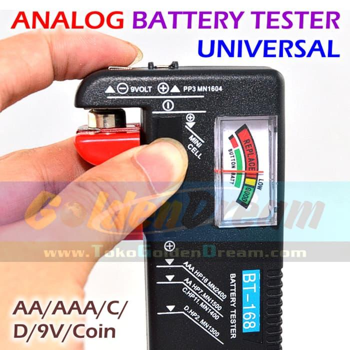 ANALOG Battery Tester Universal Baterai AA AAA C D 9V Coin Cell Batere