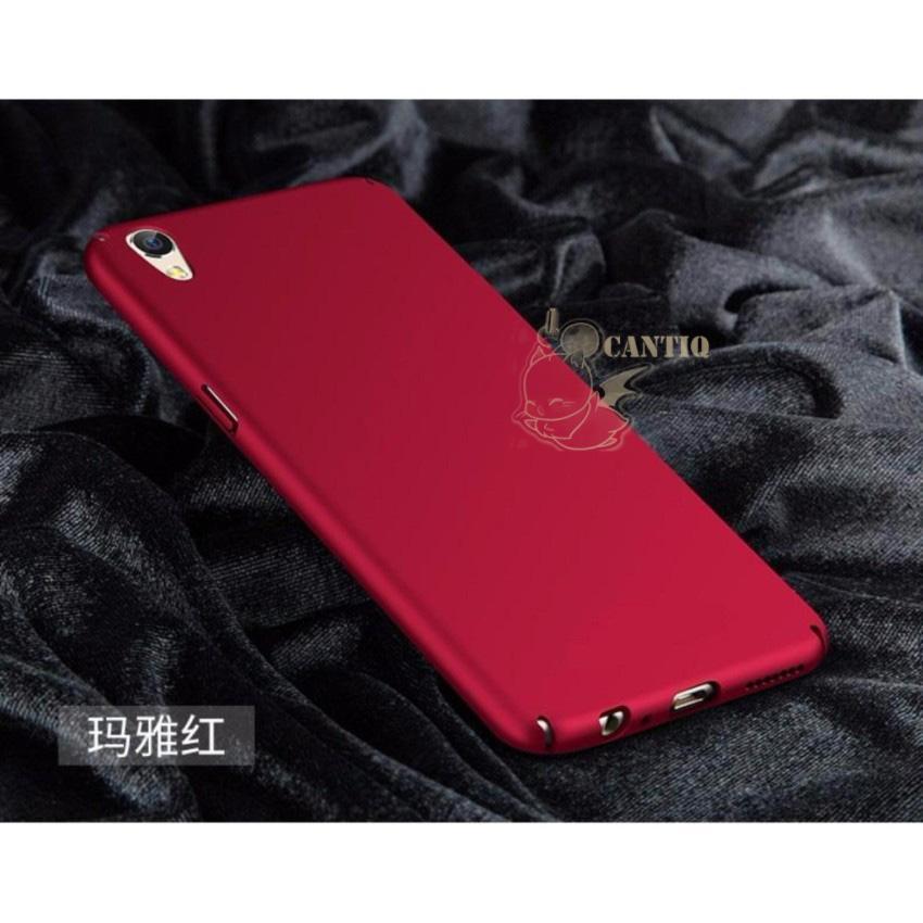 QCF Case Oppo Neo 9 A37 Hard Slim Red Mate Anti Fingerprint Hybrid Case Baby Skin