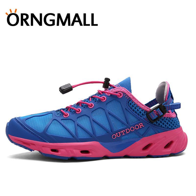 Detail Gambar ORNGMALL Wanita Sepatu Air Cepat Kering Sepatu Luar Hulu Sepatu Trekking Bernapas Sepatu Hiking Sepatu Jala Terbaru