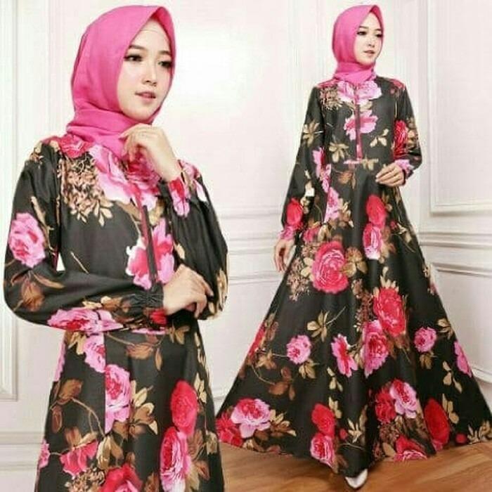 Kenzmal Maxi Gamis Dress Muslim Emiliana Untuk Pesta - Tersedia 4 Warna