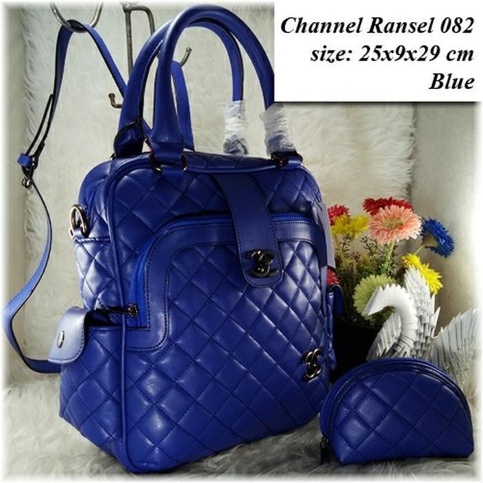 Tas Fashion Wanita Chanel Ransel 082 Set Dompet Backpack - 96YkUC ...
