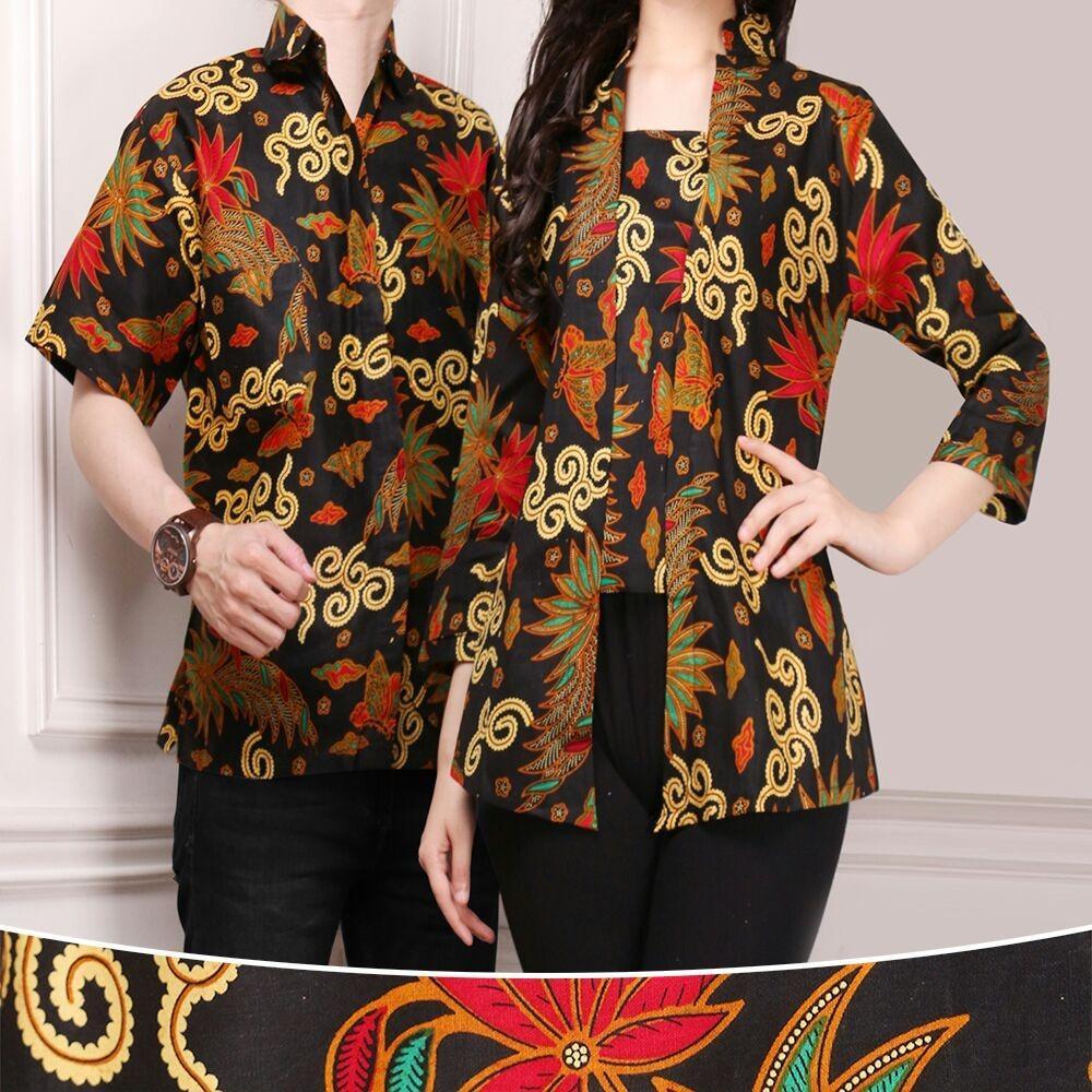 Beli Cj Collection Couple Batik Atasan Blouse Kemeja Abaya Kebaya Wanita Dan Atasan Kemeja Pria Shirt Anita M Xl Secara Angsuran