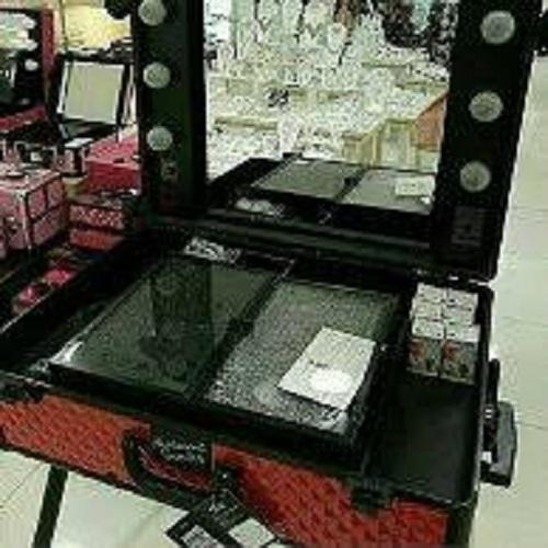 beauty case koper makeup make up rias mua led lampu bag tas masami shouko