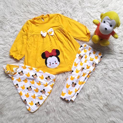 Detail Gambar Setelan Baju Muslim Anak Bayi Perempuan /Model Tsum-Tsum Besar Terbaru