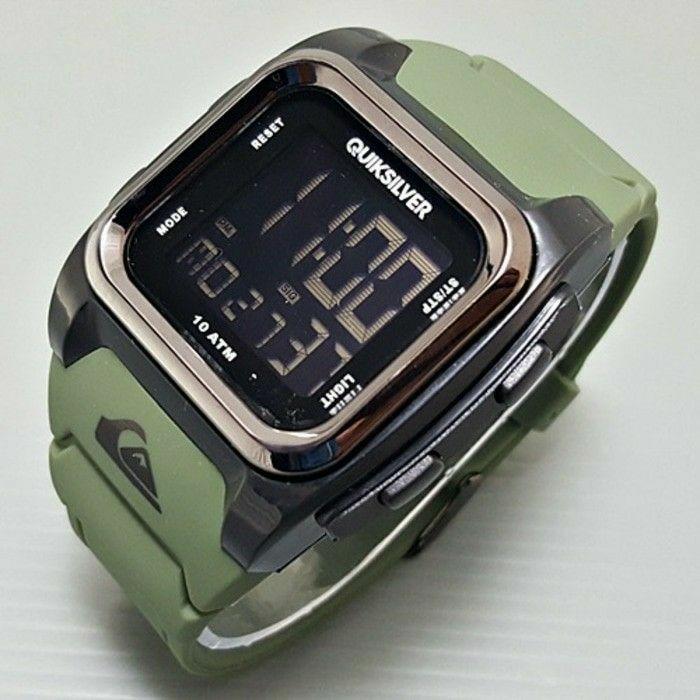 Jam tangan pria/cowok Quiksilver lavia rubber green