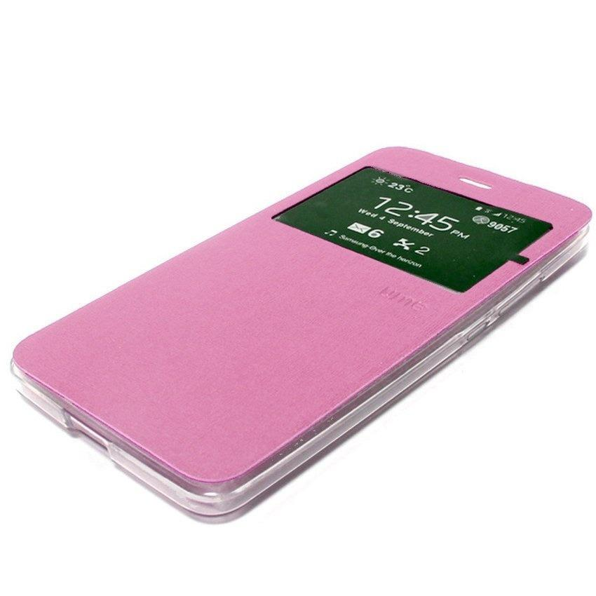 Ume sarung Flipcover For Lenovo A7700 Flip Shell dompet - Pink