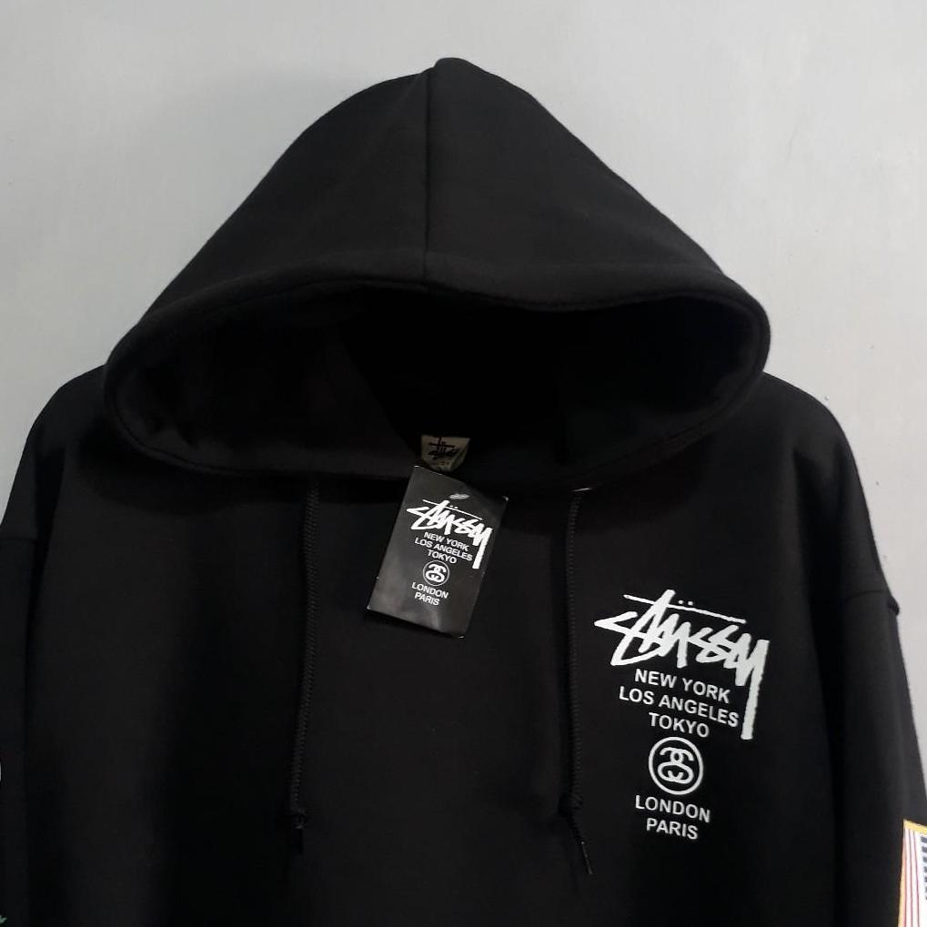 ... hoodie jumper / fashion pria dan wanita terlaris/BEST SELLERT/ STUSY flag - 4