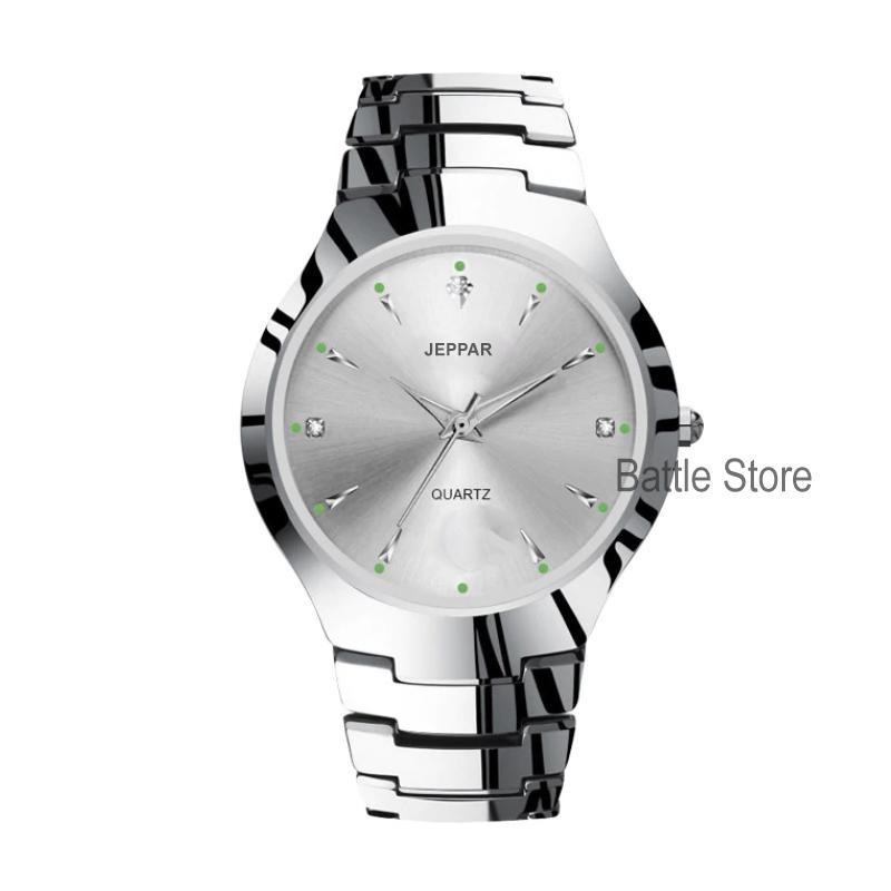 jeppar 260 jam tangan wanita analog fashion casual women strap stainless steel wrist quartz watch – jam tangan simple gaya korea