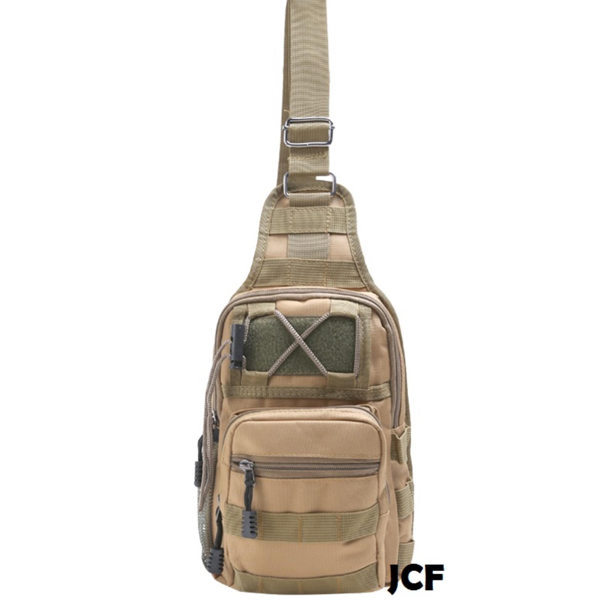 Cek Harga Baru Jcf Tas Slempang Import Cowok Pria Army Tactical Sling Waist Messenger Shoulder Bag Backpack Khaki