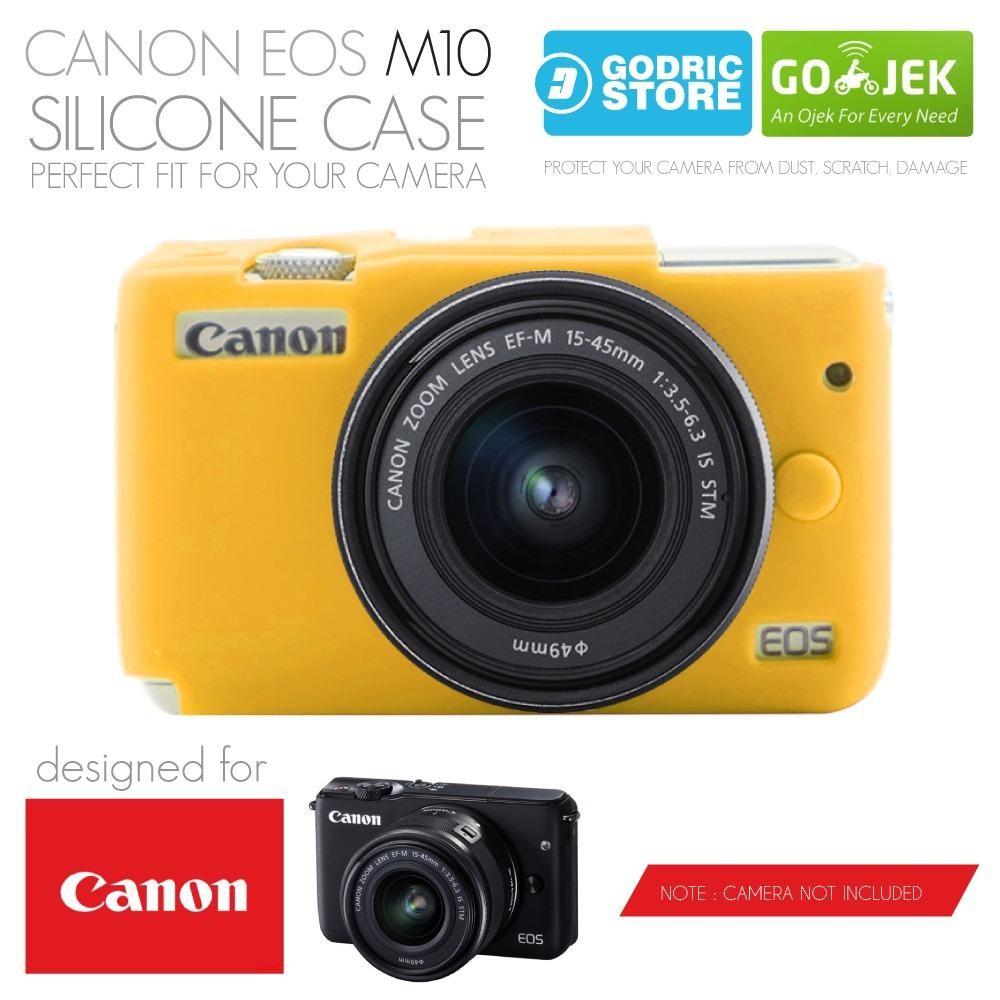Godric Silicone Canon EOS M10 Silikon Case / Sarung Silicon Kamera Mirrorless - Kuning