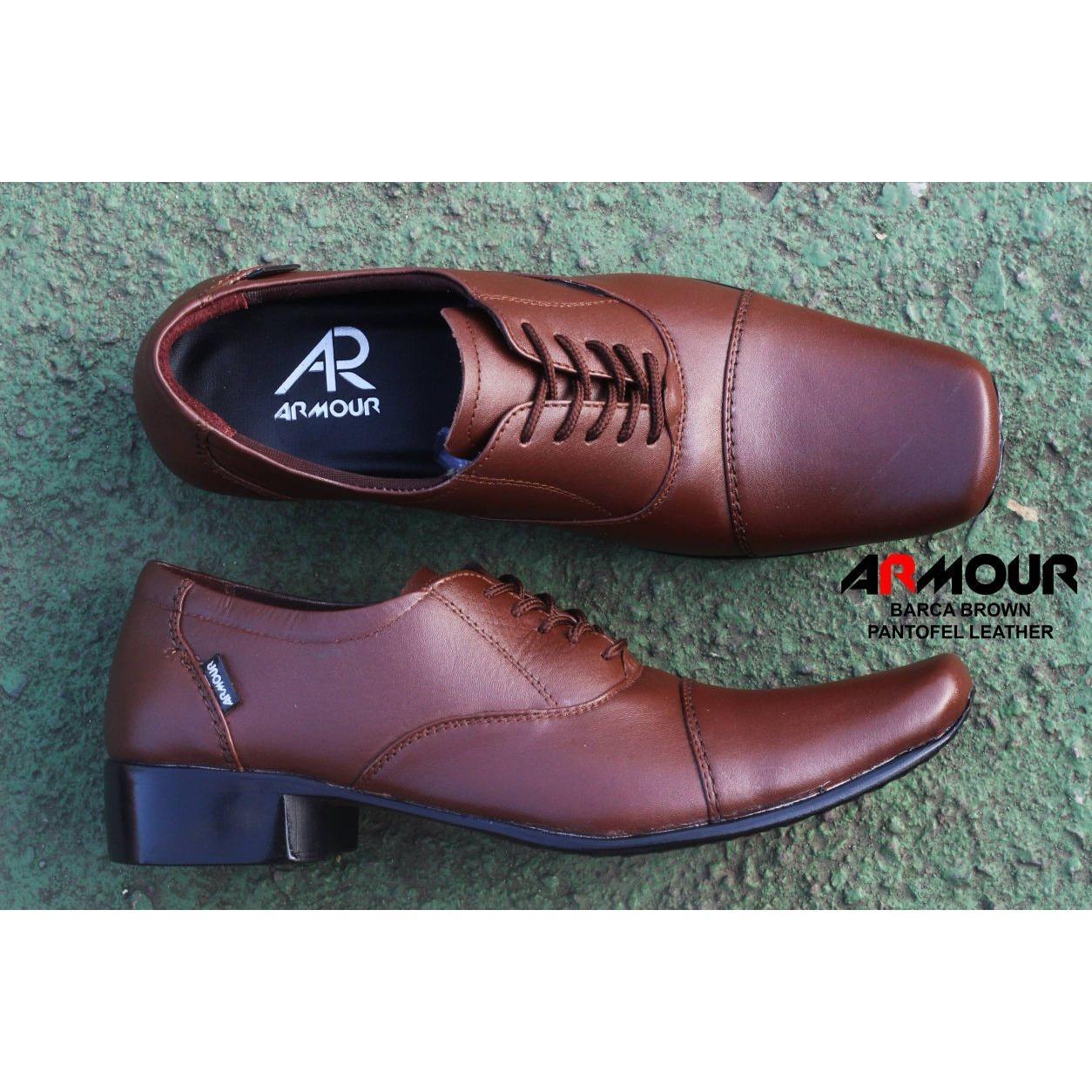 Sepatu Pantofel Tali Kulit Kickers Pantopel Hitam coklat Formal kerja kantor  safari dinas pesta resmi cowok 7416fe0e52