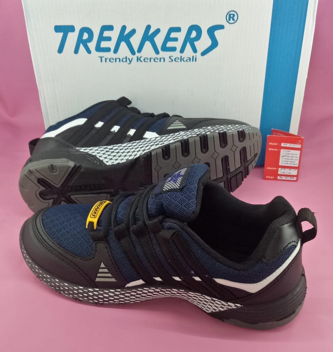Features Sepatu Sport Pria Trekkers Velocity Nrm Hitam Birutua 39 43 Ardiles Men Articuno Running Shoes Grey Black 42 Detail Gambar Terbaru
