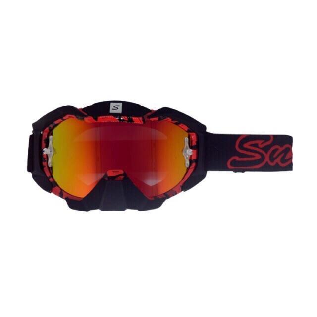Kacamata Cross Goggle Snail MX36 - Red Motif