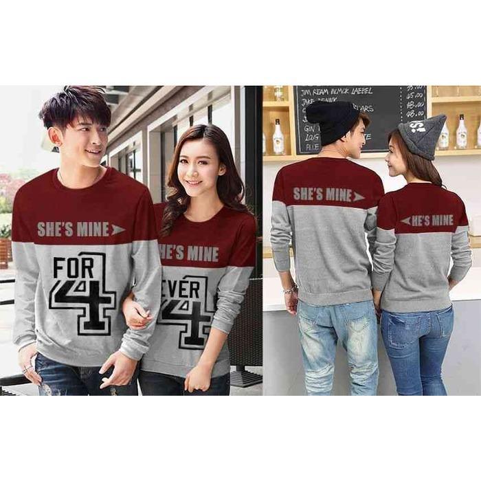 BUTIKONLINE83 - Sweater Couple - Pakaian Sweter Pasangan Kapelan - Kaos  Kapel ( Coupel   Capel 51a9a17773