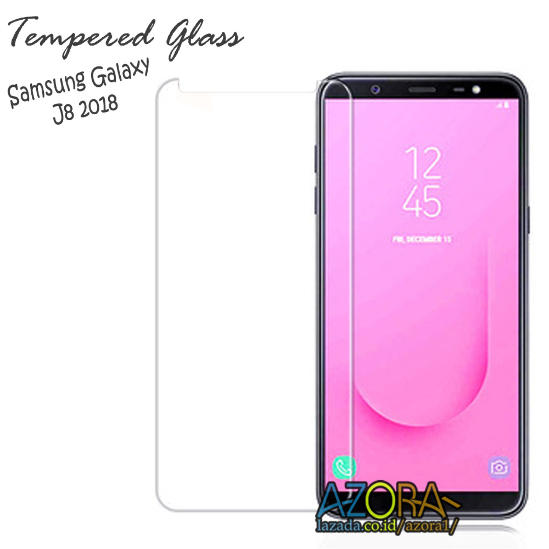 Tempered Glass Samsung Galaxy J8 2018 Screen Protector Pelindung Layar Kaca Anti Gores Bening