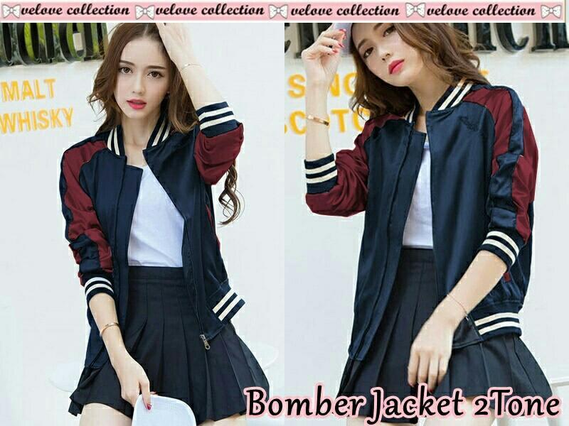 Pakaian Fashion Wanita Terbaru Lazada co id Source · Godwin Collection Bomber jacket 2tone fashion wanita