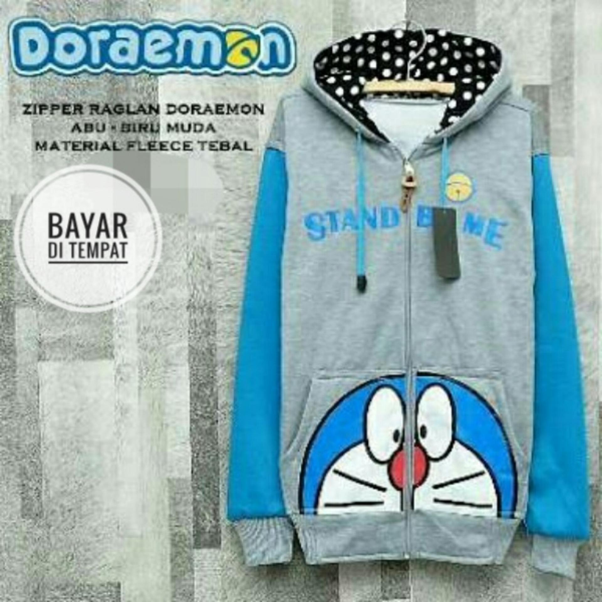 Kelebihan Jaket Sweater Doraemon Kantong Ajaib Black Jmm Terkini Grey Blue Hoodie Best Seller