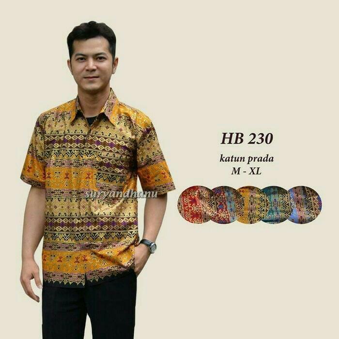 Hem Batik Jamrud Baju Batik Laki-laki Dewasa TERMURAH