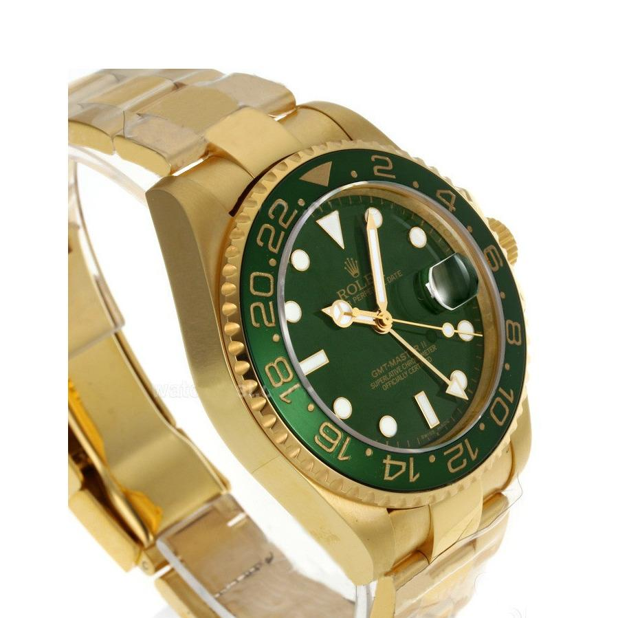 Jam Rolex Submariner Gold Green Dial Automatic Men's Watch