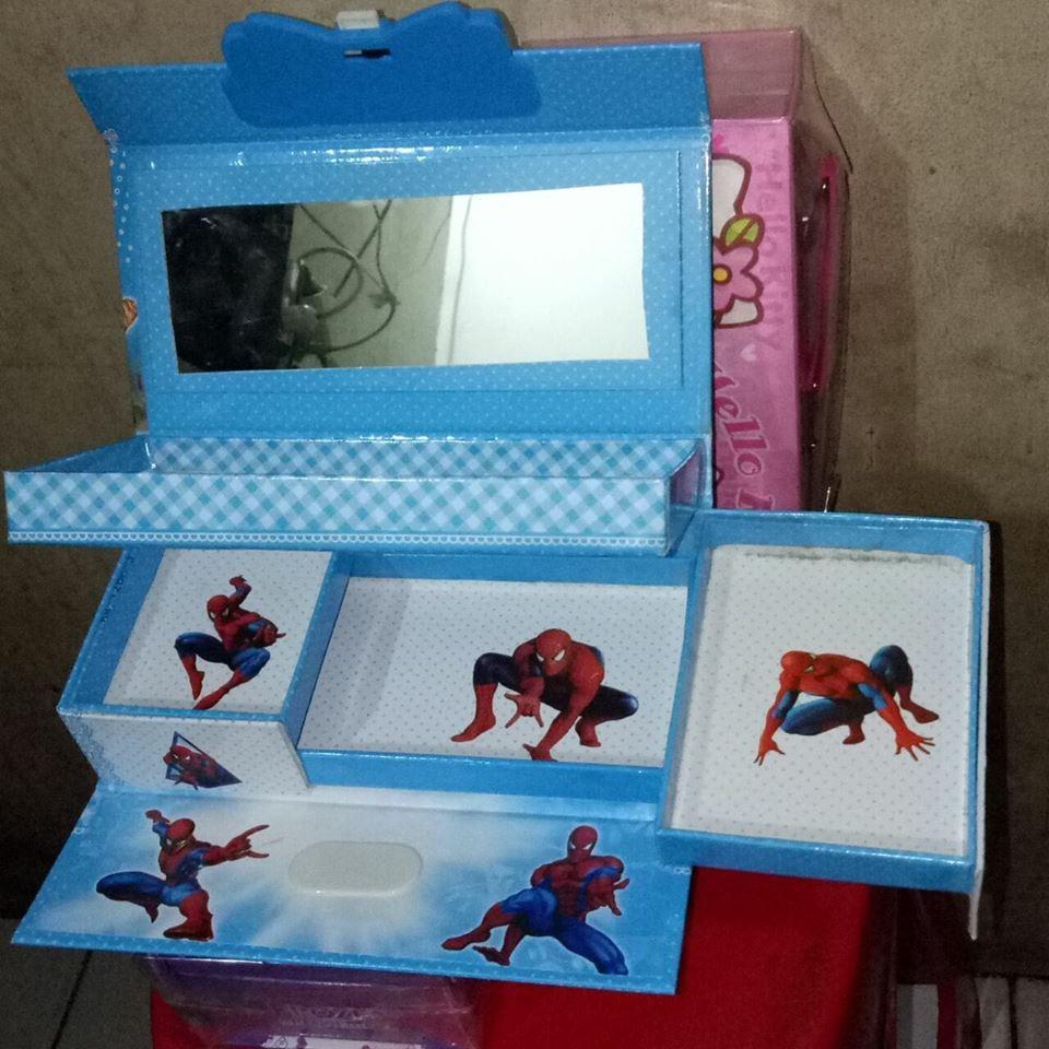 Kotak Pensil/ Tempat Pensil Kode Karakter SPIDERMAN