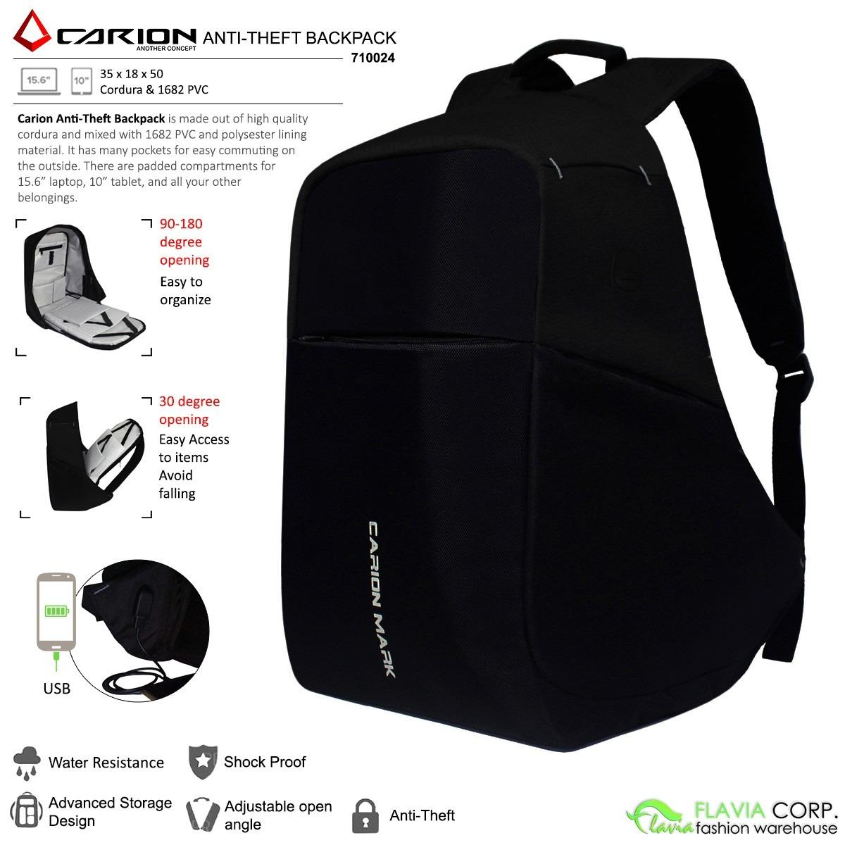 Tas Ransel Laptop Anti Maling Smart Anti Theft Backpack 710024 Original