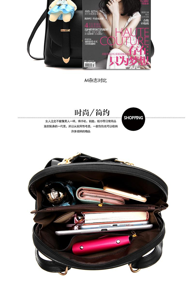 Tas Fashion Import Korean Style Dolly Leather Backpack - Black