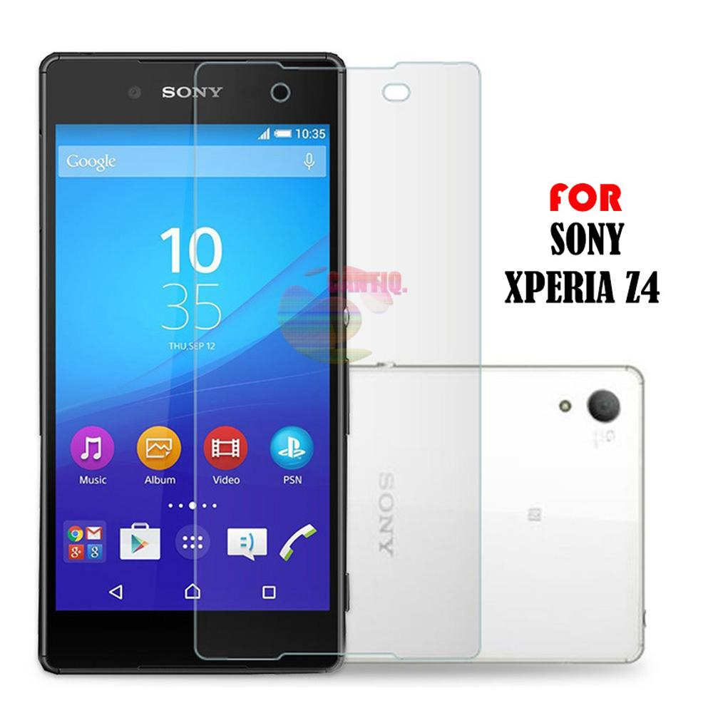 Tempered Glass Compatible For Sony Xperia Z4 Ukuran 5.2 Inch Temper Anti Gores Kaca 9H /