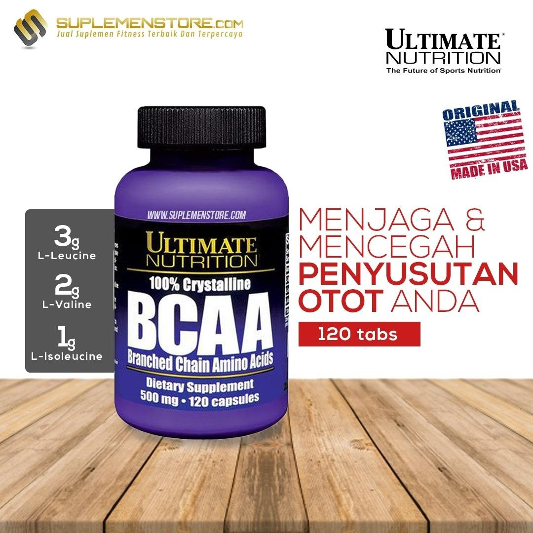 Spesifikasi Ultimate Nutrition Bcaa Capsules 500 Mg 120 Caps Merk Ultimate Nutrition