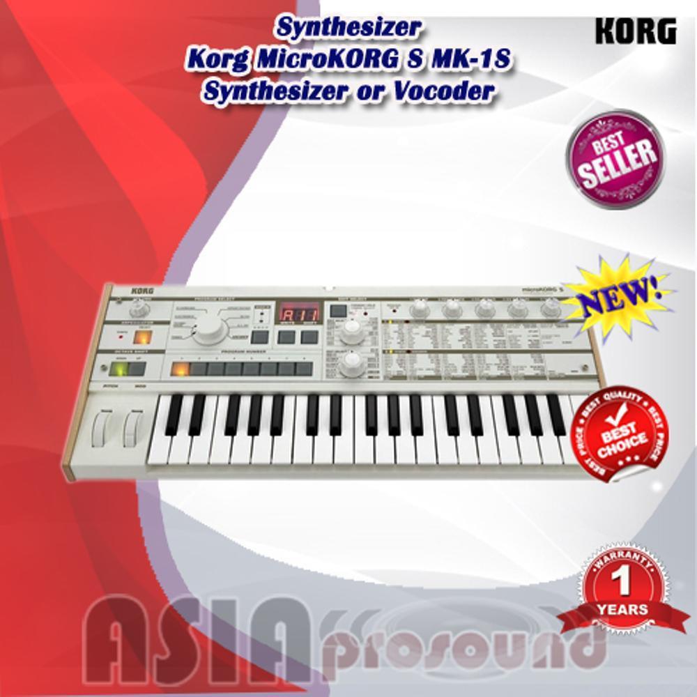 Korg MicroKORG S MK-1S Synthesizer or Vocoder - Micro Korg SMK-1S
