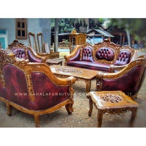Kursi Tamu Jati Monaco Ganesha Luxury (Sofa Jati, Kursi Jati Mewah)