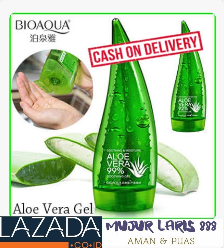 ... Bio Aqua Aloe Vera Sooting Gel 99 Mengandung Moisturizer Multifungsi 1 Pcs 2