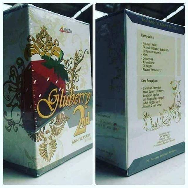 4 Jovem Gluberry Collagen Drink / 4Jovem Gluberry Drink Kemasan 2nd Anniversary Edition 100gr BPOM Original