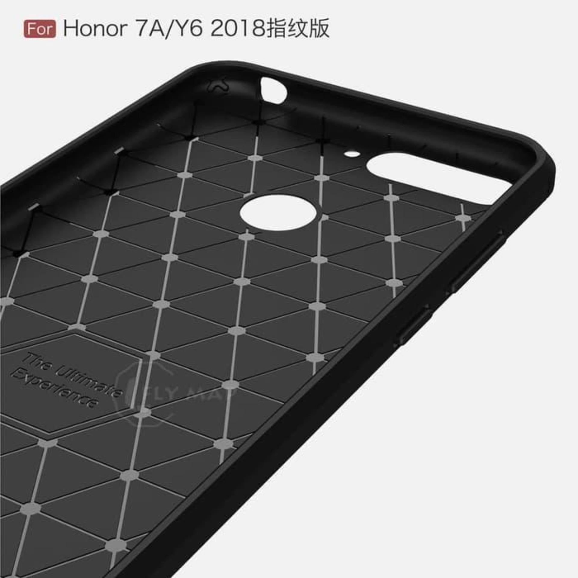 Detail Gambar Kenzoe Premium Quality Carbon Shockproof Hybrid Case For Huawei Honor 7A - Black Terbaru
