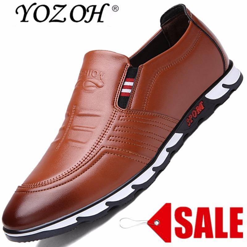 Diskon Yozoh Pria Sepatu Kasual Oxford Klasik Kulit Asli Pria Kantor Elegan Gaun Bisnis Formal Sepatu Yozoh Tiongkok