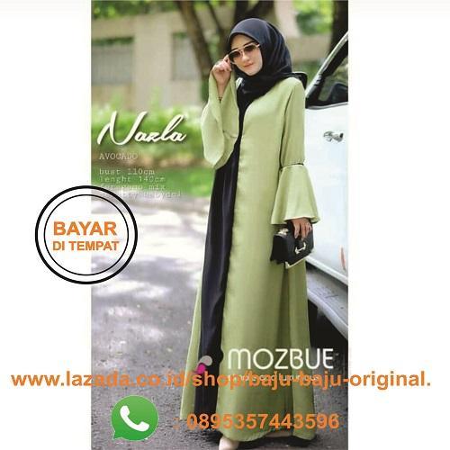 Baju Original Gamis Nazla Maxy Dress Balotelly Baju Wanita Gamis Baju  Terusan Panjang Baju Kerja Gaun 80a968acce