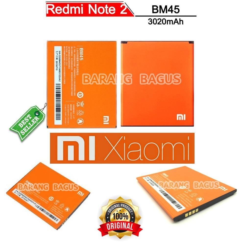 Xiaomi Baterai / Battery BM45 For Xioami Redmi Note 2 Kapasitas 3020mAh Original [ barang bagus