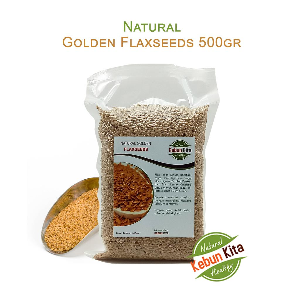 Natural Golden Flaxseeds 500gr